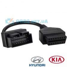 Переходник kia hyundai 20 pin на OBD-2 16 pin